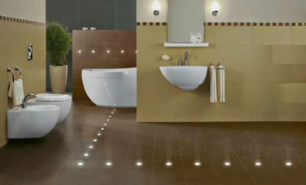 creative led bathroom tile ideas led tiles technology