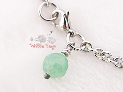 Minlet (Minima Bracelet) with green Agate at WireBliss