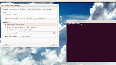 Run command as a login shell