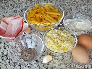 Paste alla carbonara ingrediente reteta