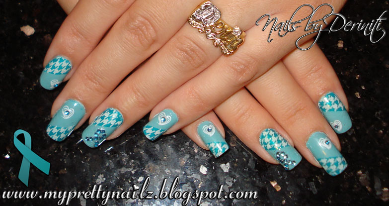 M63 B14 China Glaze For Audrey Sally Hansen Xtreme Wear The Real Teal Konad White Special