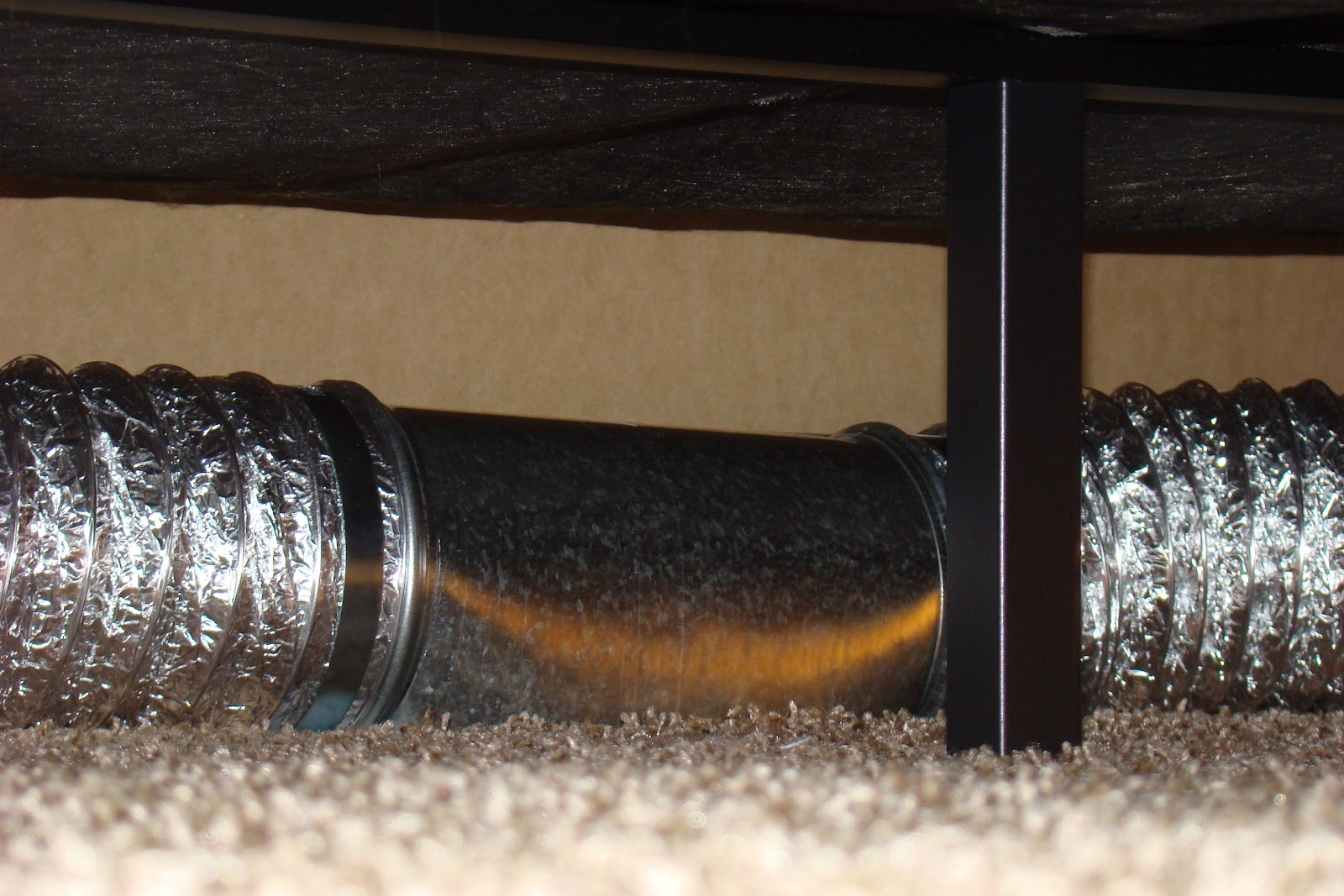 The Problem: The Furniture Covers The Only Air Vent In The Room. The  Solution: Redirecting Air Via Tubing And A T Vent.