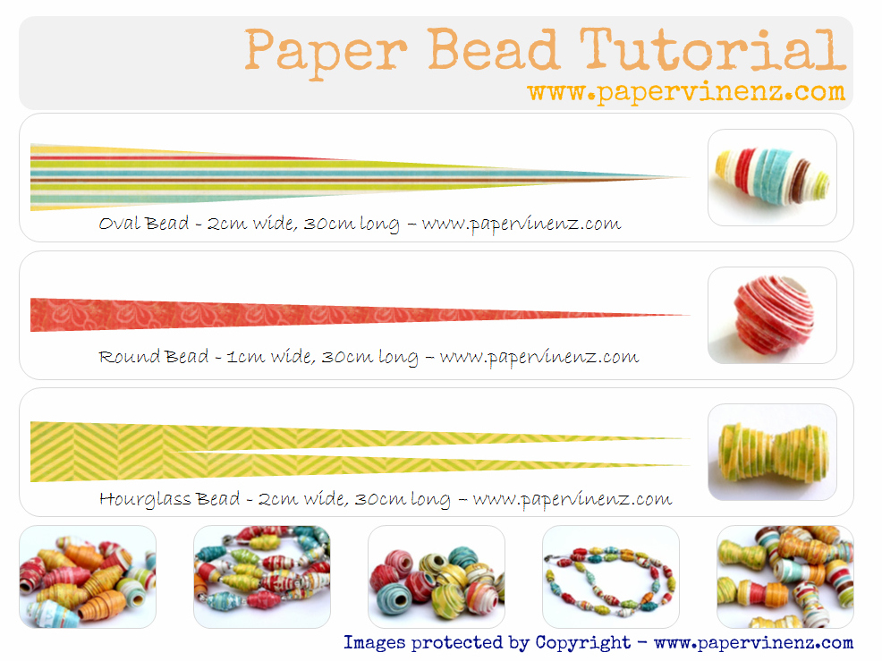 paper bead Paperbeadsorg, a blog by janicemae (paper beads extraordinaire) is full of tutorials & inspiration to help you create amazing paper beads & jewelry.