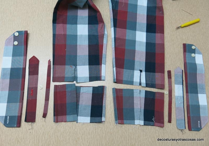 piezas que componen una manga de camisa
