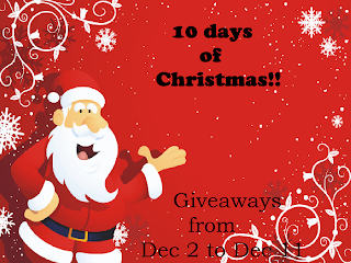 10 Days of Christmas Blogger Opp. Event starts 12/2.