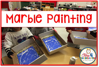 marble painting the snow globes