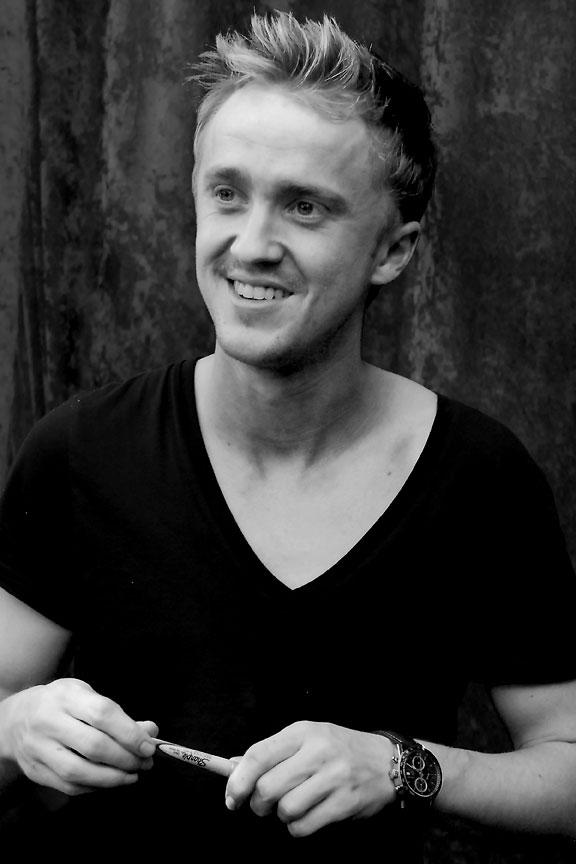 Tom Felton Black And White