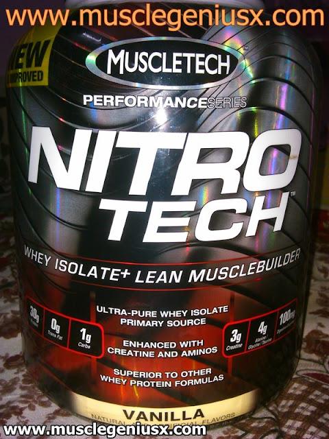 MuscleTech Nitro-Tech Whey Protein vanilla 3.97 lbs