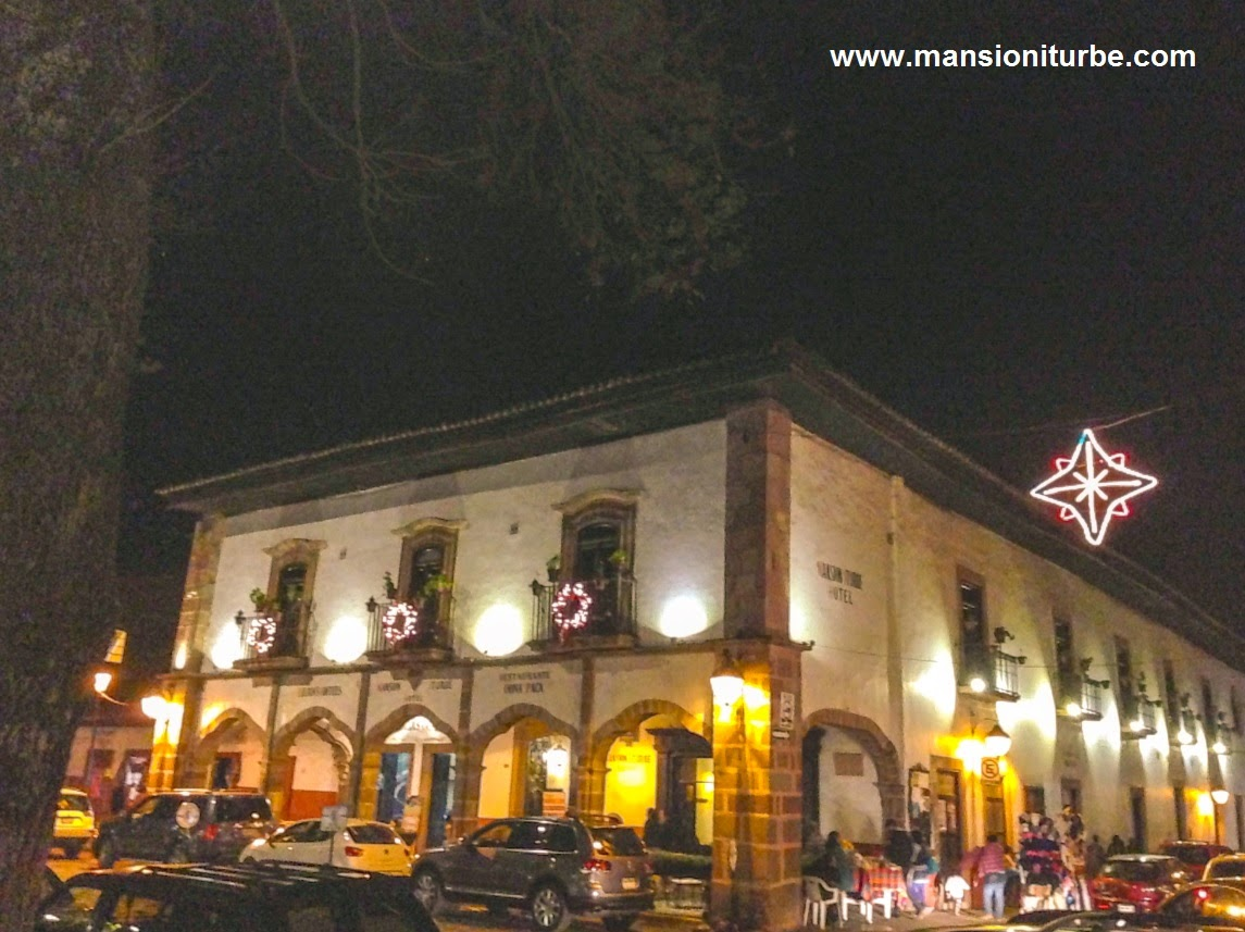 Hotel Mansión Iturbe during the holiday season in Pátzcuaro