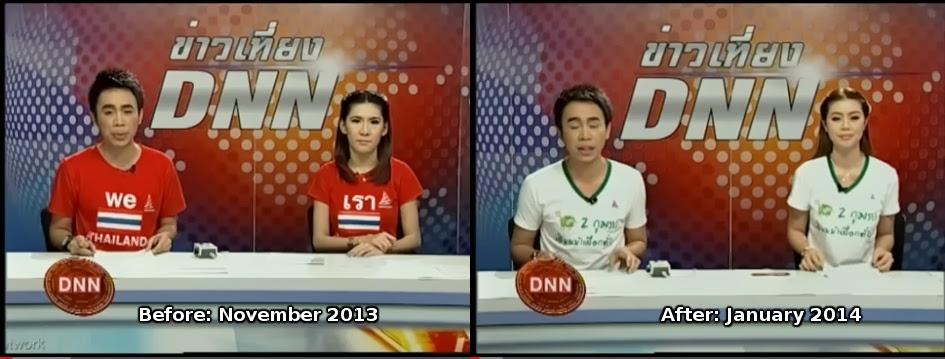 Before After RedToWhite Propaganda Thailand: Regime Scrambles to Rebrand Red Shirts to White Shirts