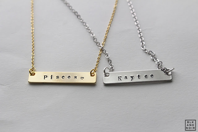 NAMETAG ID NECKLACE by BLK AND NOIR