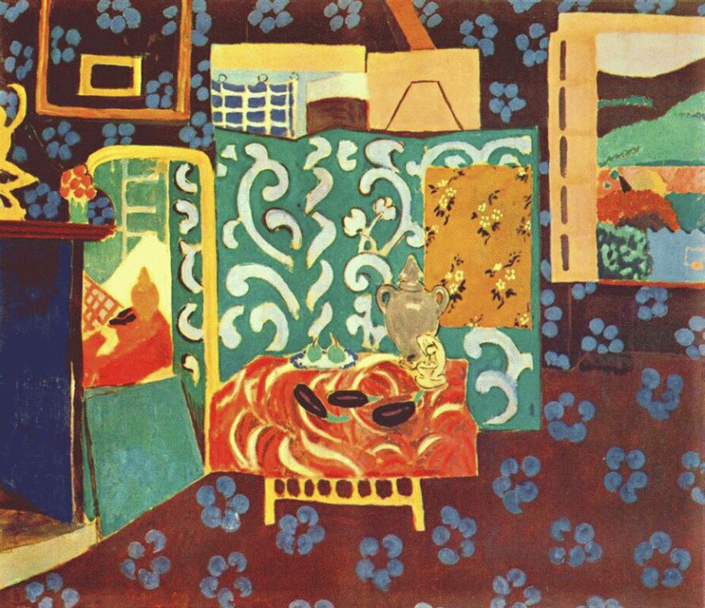 Ccpatchwork interior with eggplants matisse in kindergarten for Interieur aubergine