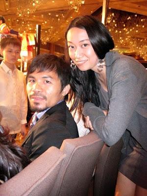 Trisha Sebastian with Manny Pacquiao