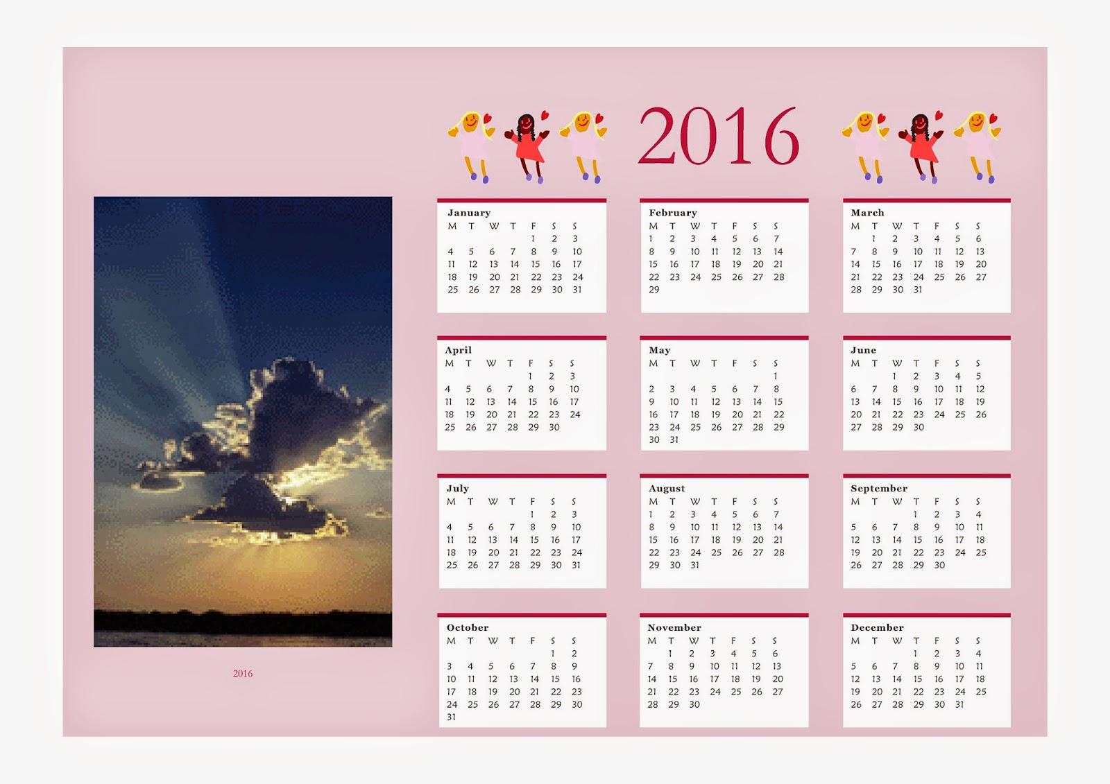 Как в publisher сделать календарь на год