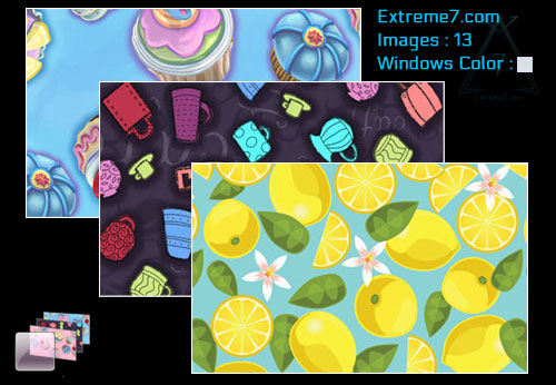 Microsoft Official Delectable Designs theme for Windows 7 and 8