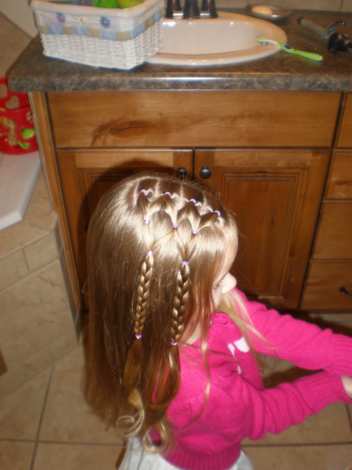 Причёска на жидкие волосы с резиночками