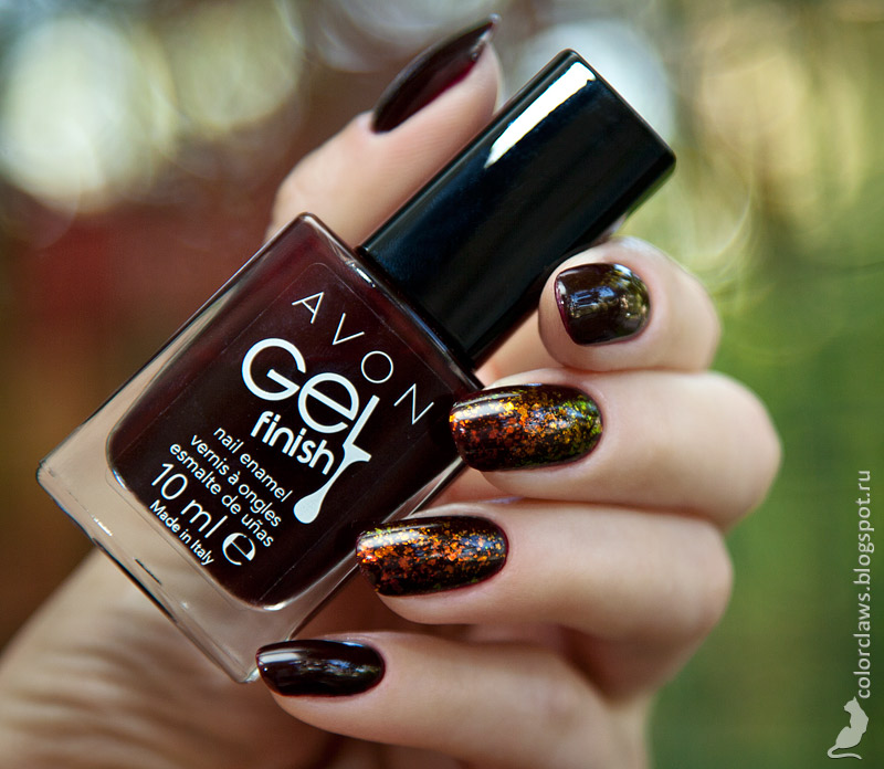 Avon Gel Finish Wine and Dine Me + Cherie Ma Cherie #209