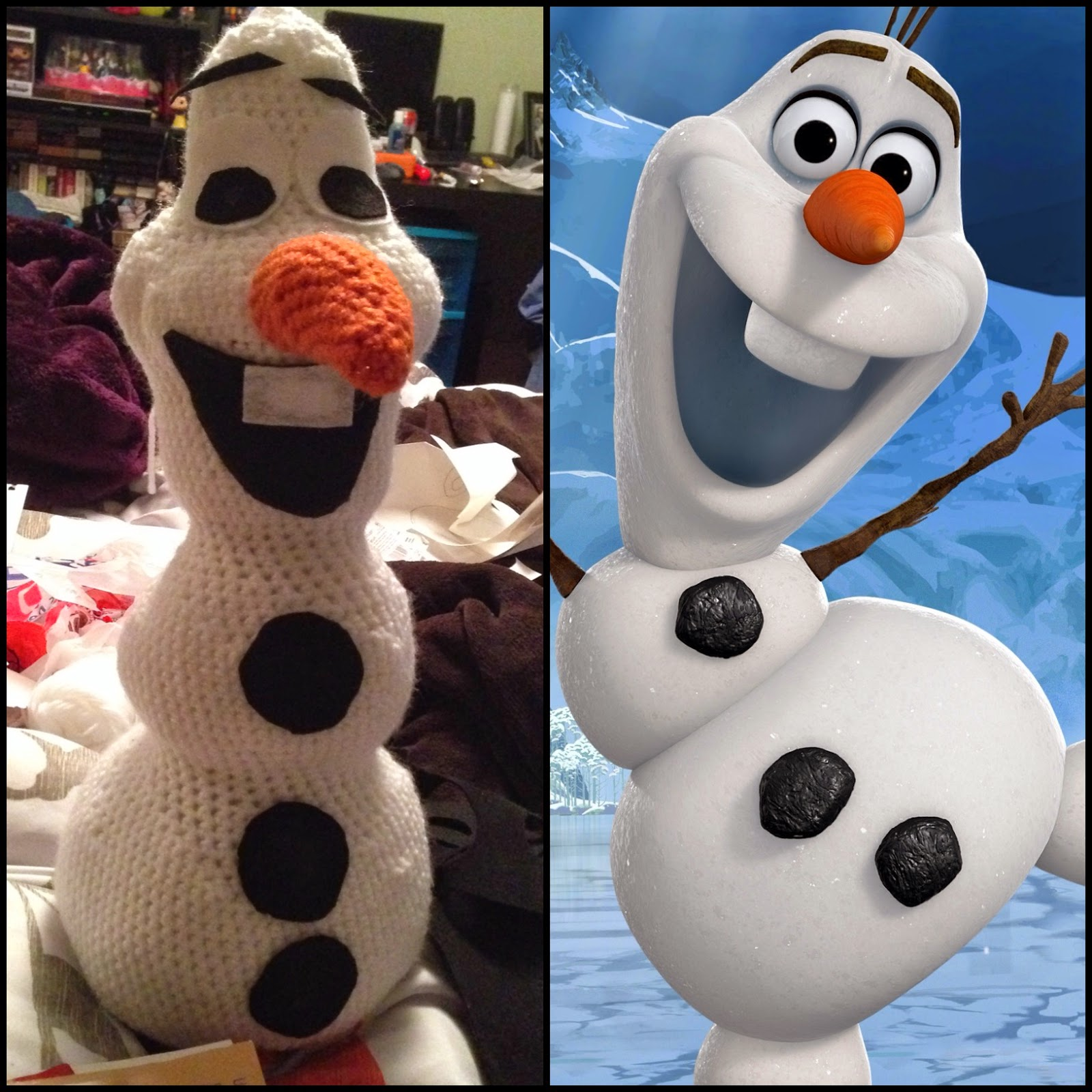 Crochet Free Pattern Olaf : Say It Aint Sew : Free crochet pattern! Olaf from Frozen!