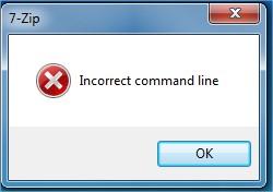 Softorials Fix 7 Zip Command Line Error