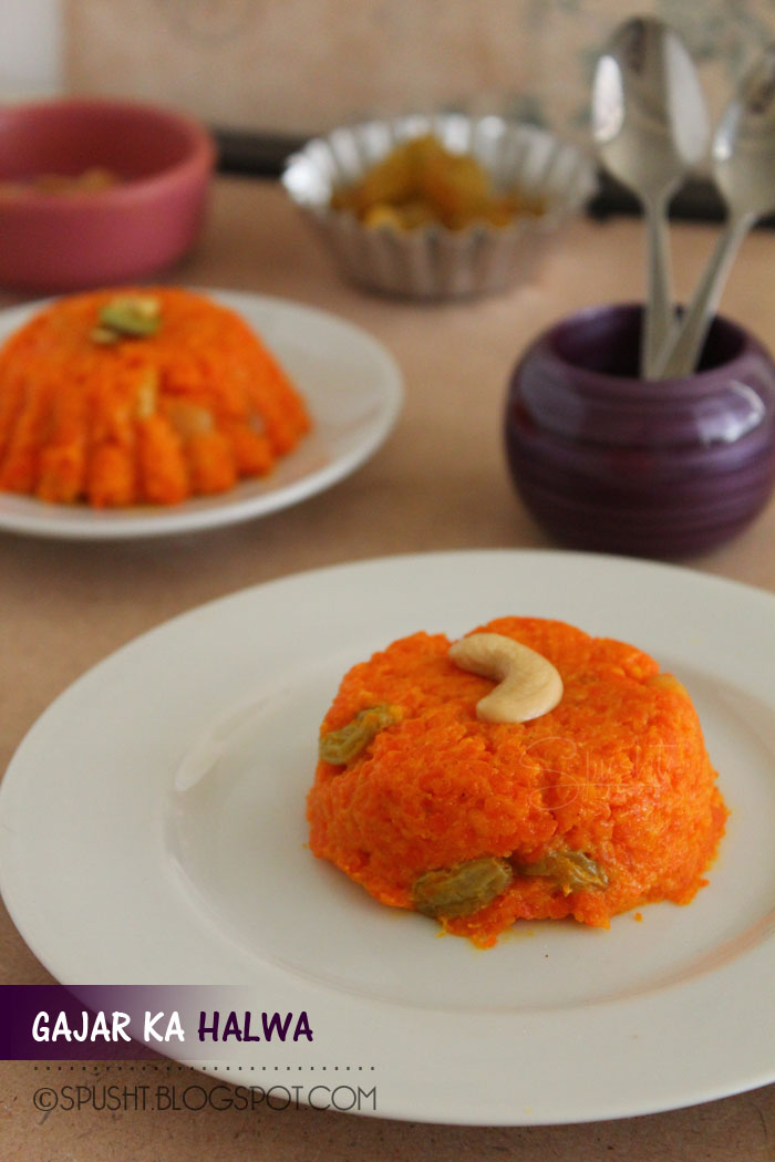 Spusht | Carrot Halwa Recipe | Indian Sweets