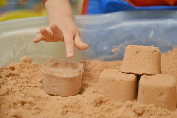 Кинетический песок своими руками без песка
