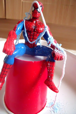 Preschool Messy Play with Spiderman