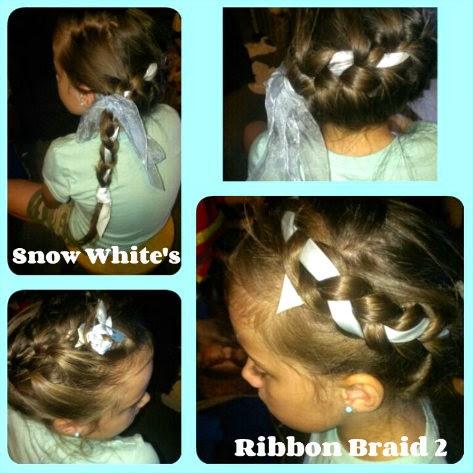 Disney Princess Hairstyles  snow white ribbon braid variation 1