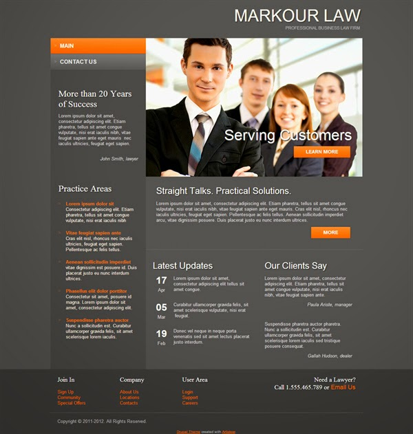 Markour Law - Free Drupal Theme