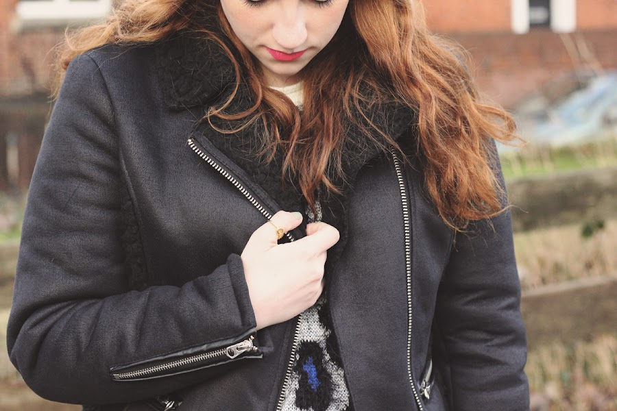 topshop shearling jacket