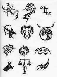 Diseño Tatuaje tribal signos zodiacales set 11
