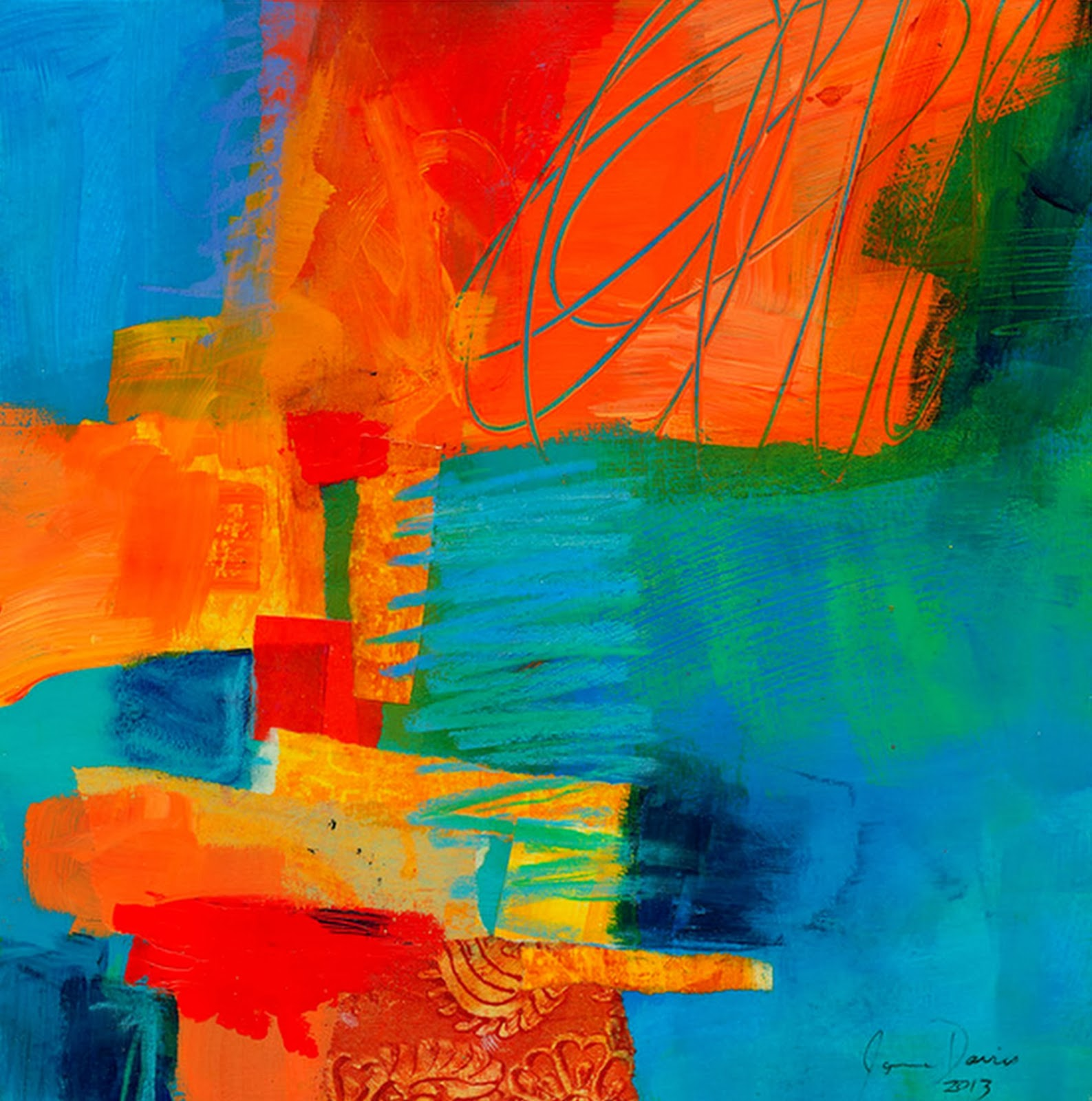 Pintura moderna y fotograf a art stica pintura abstracta for Pintura acrilica moderna
