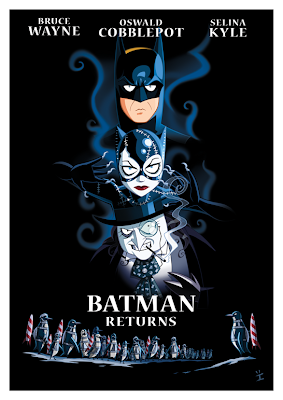 movie poster cover art  - batman retuns carton art