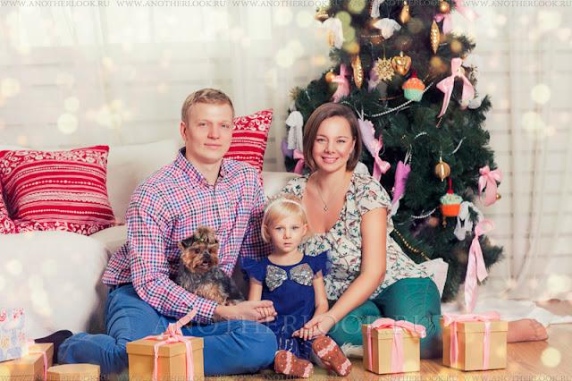 семейная фотосессия в новый год
