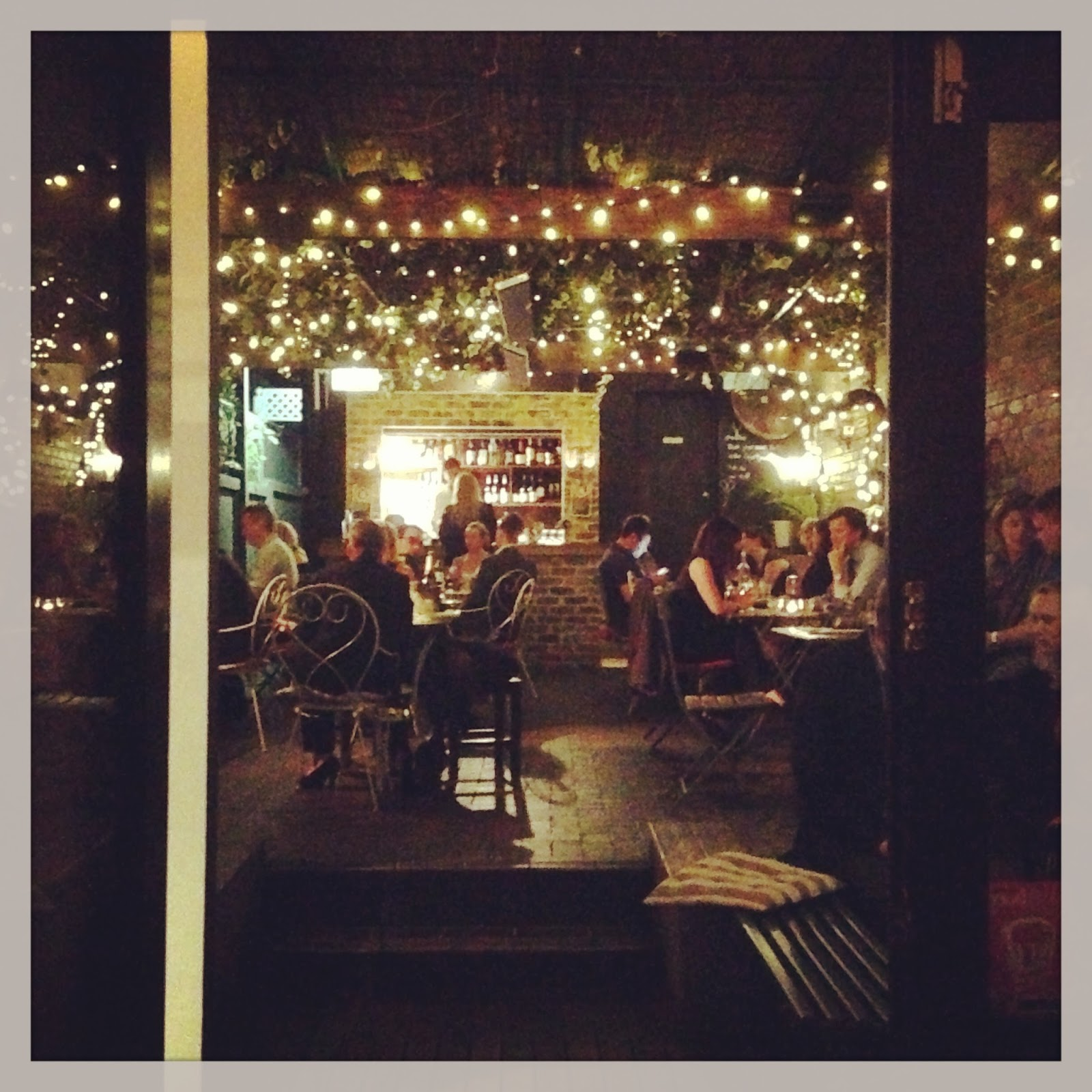 Missklicious small bar crows nest sydney the area out the back which has a nice outdoor feel with the fairy lights whilst being protected whatever the weather workwithnaturefo