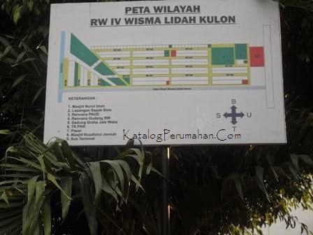 Peta wilayah Wisma lidah kulon