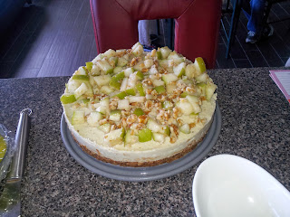 raw pear walnut cheesecake