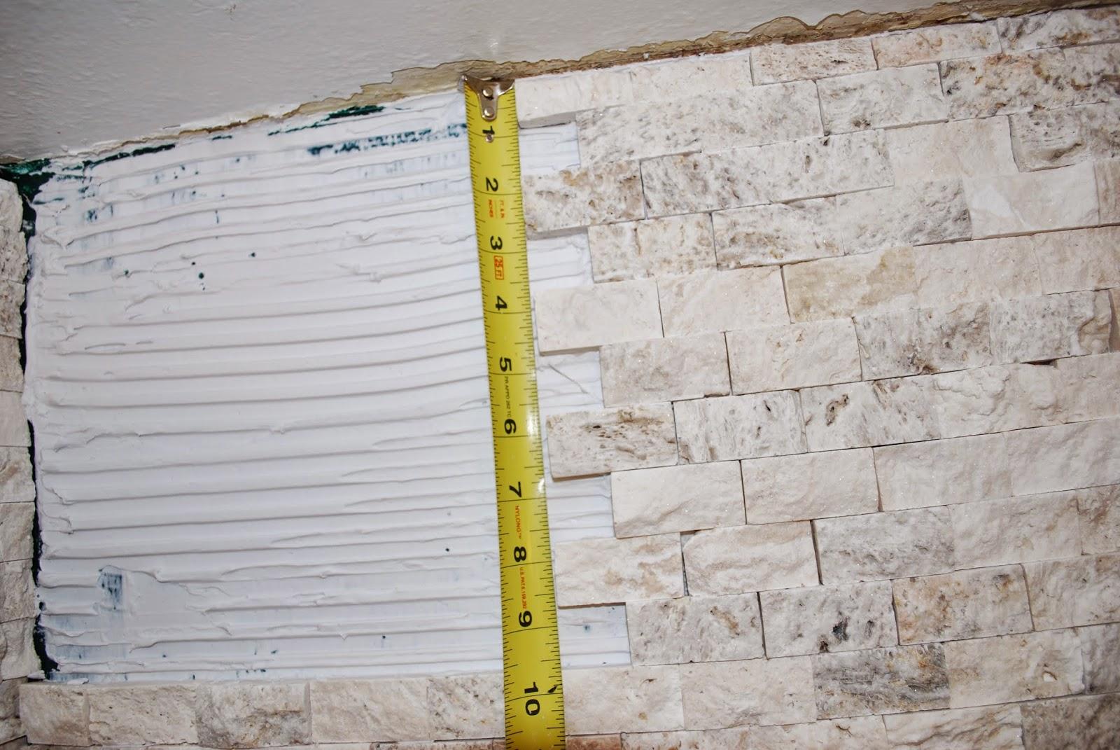 Measure vertically for stacked stone tile cuts