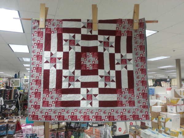 WSU Quilt @craftsavvy #craftwarehouse #quilting #college #diy