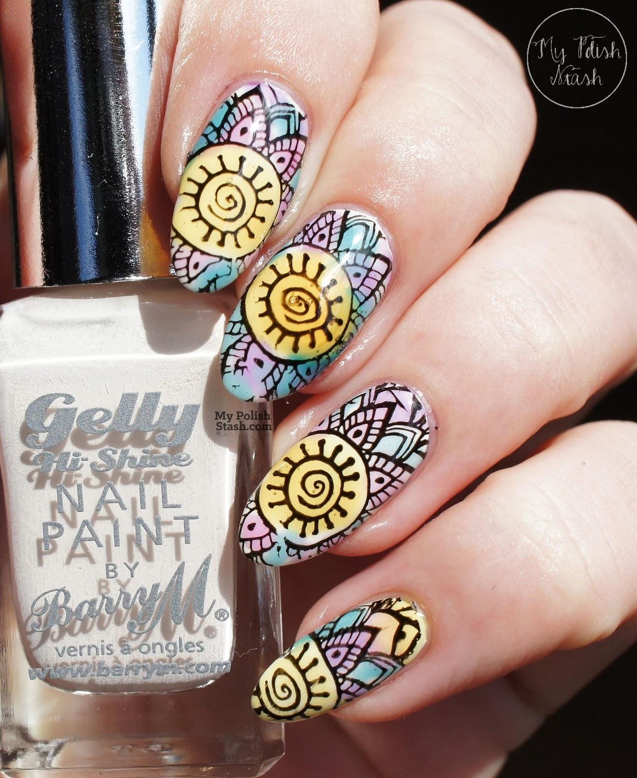 petal stamping design