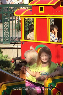 kids train at Downtown Disney