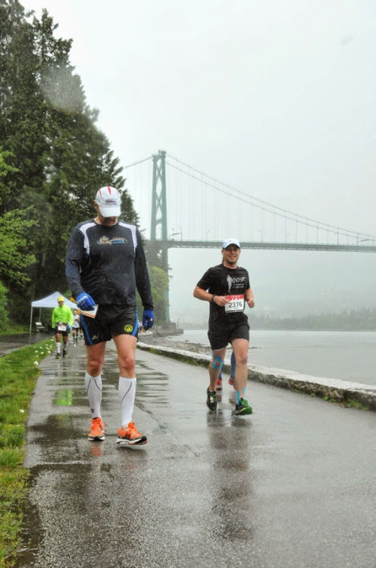 Running Lion's Gate Bridge Vancouver Marathon 2014