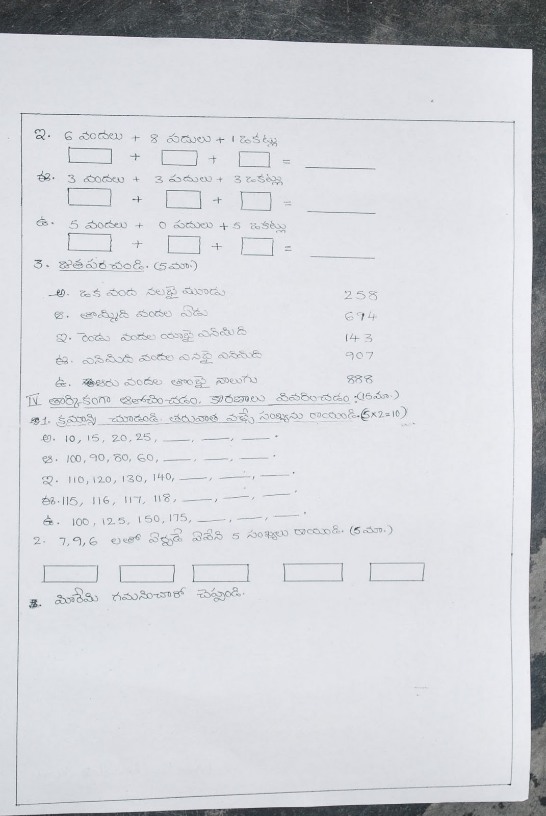 Model Question Papers