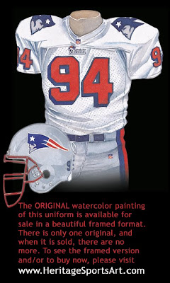 New England Patriots 1996 uniform