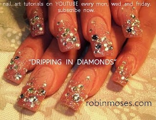 Robin moses nail art 21st birthday bling las vegas night life baby one of my most popular designs to date without over a million views i think others are walking around vegas right now with blinged up nails and a smile prinsesfo Gallery
