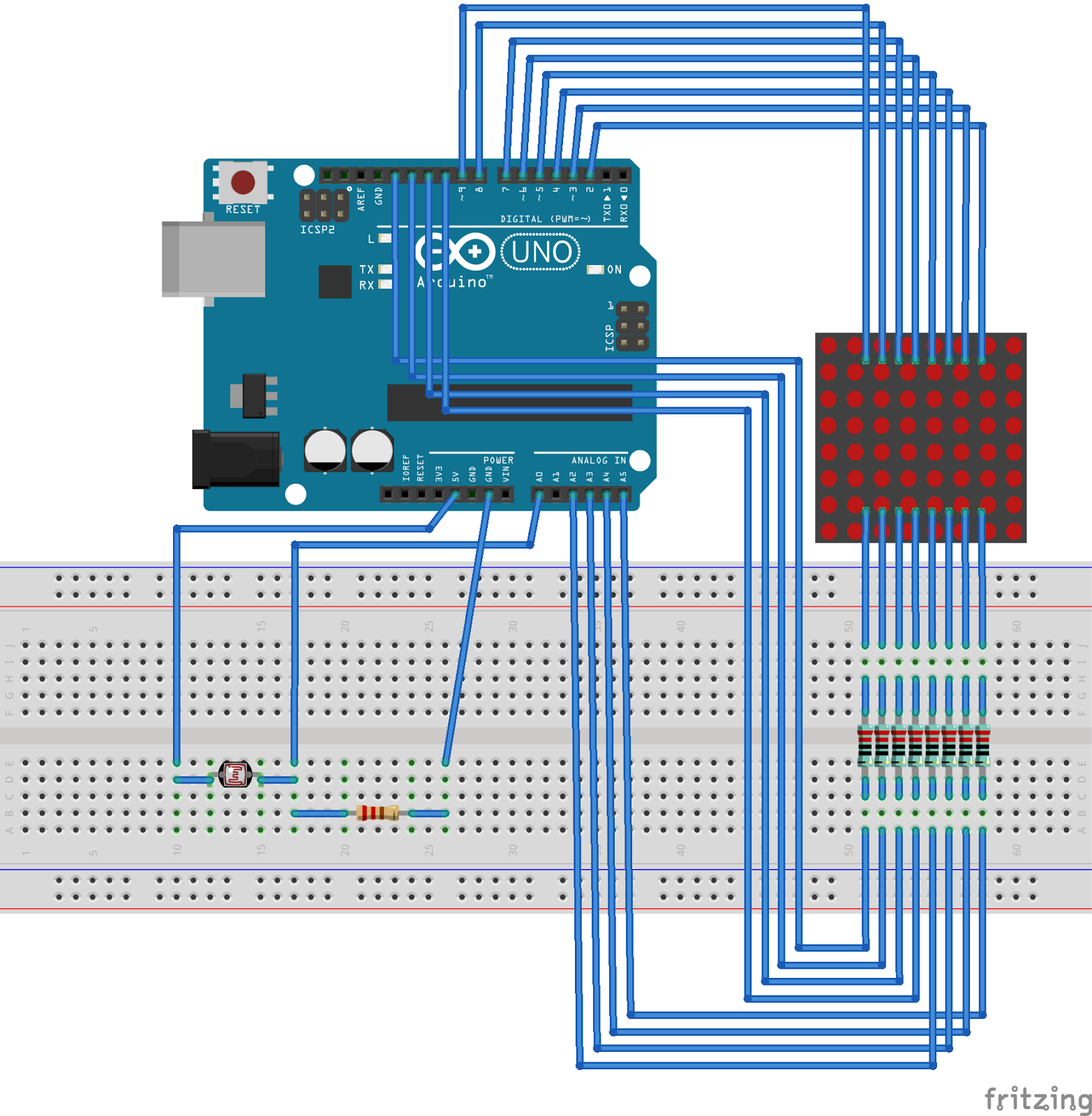 Arduino er example self adjust analogread to