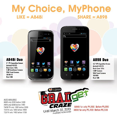 MyPhone A88i Duo And A898 Duo GRADget Craze