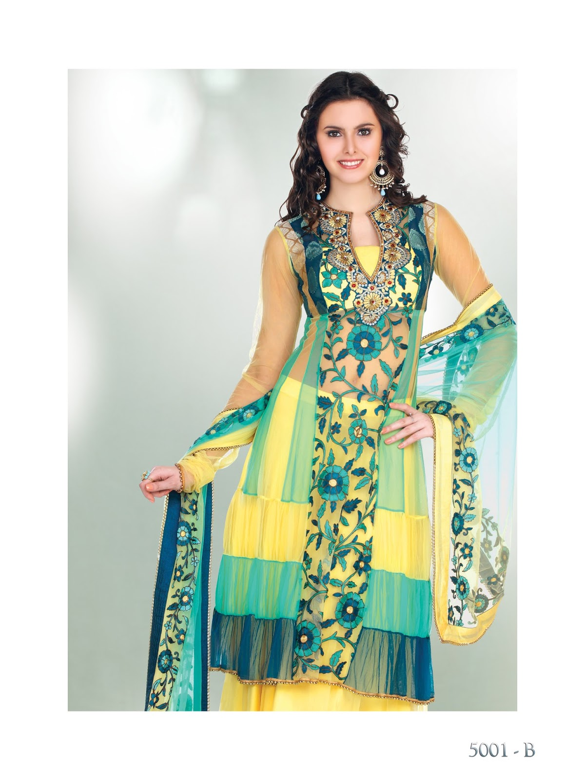 Buy Online Gorgeous Anarkali Salwar Kameez - Fancy Embroidered ...