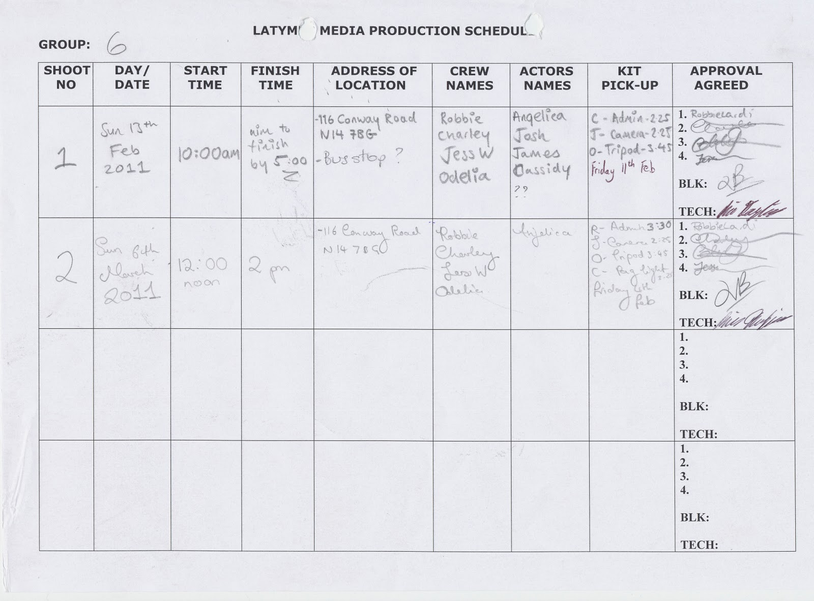 video production schedule template