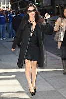 Lucy Liu arriving at The Late Show with David Letterman