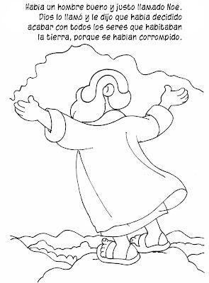 Historia del Arca de Noé en dibujos